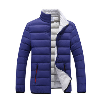 Winter Mens Standing padded Collar Short Warm down jacket for man