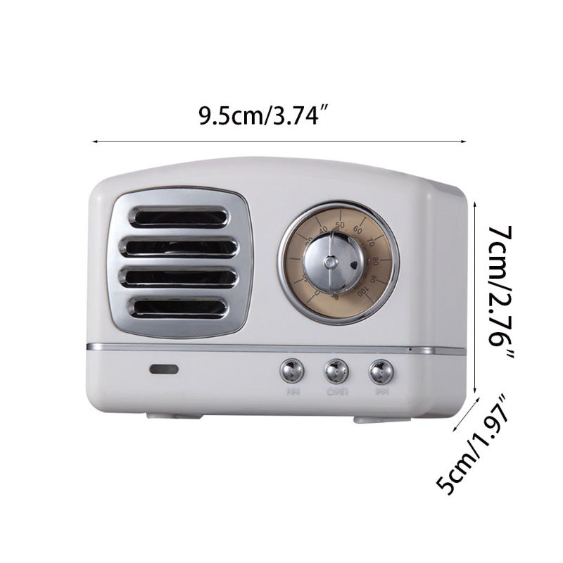 Retro Do Vintage Sem Fio Portátil Bluetooth Speaker Stereo Bass Enhanced USB Slot Para Cartão TF Handsfree Chamando