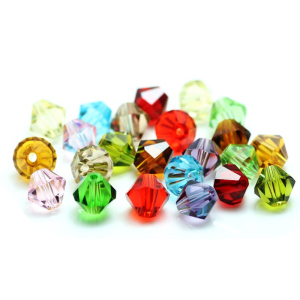 Pujiang Crystal Glass Beads Manufacturers 4mm Bicone Beads For Jewelry Making