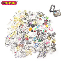 Heart love animal crystal alloy Resin Mixed Float Charms Glass Memory Lockets Wholesale