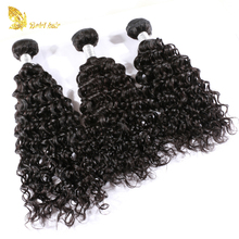 Factory price unprocessed Malaysian remy hair weft deep curly hair bundles