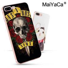 Чехол для мобильного телефона MaiYaCa guns n roses высокого качества для Apple iphone 11 pro 8 7 66S Plus X 5S SE XS XR XS MAX(Китай)
