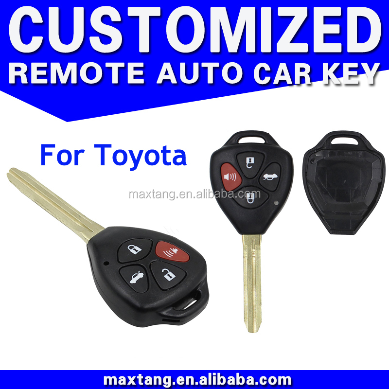 3+1 4 Button Car Remote Key Case Shell Fob Uncut Blade For Toyota Corolla Avalon Camry Matrix RAV4Venza Yaris without logo