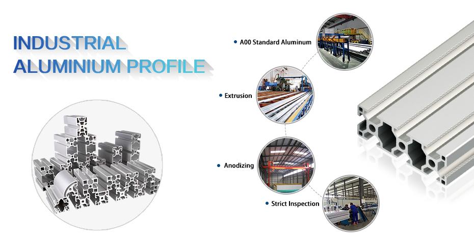 Chine usine d'extrusion industrielle 6063 profil v fente 2040 pièces extrudées 80160 profilé en aluminium
