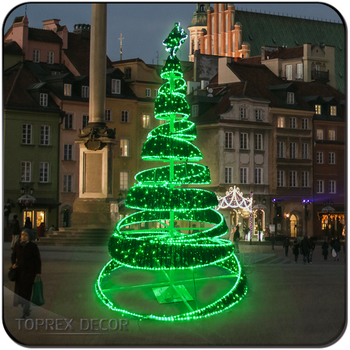 metal frame artificial big led christmas tree