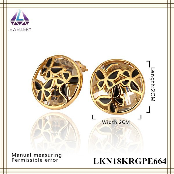Wholesale Triditional Hoop Earrings 2cm Round Stud Yellow Gold ...