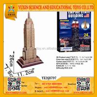 Empire State Building 3D DIY Paper Puzzle, Intelligent 3D Empire State Building DIY Paperboard Puzzle