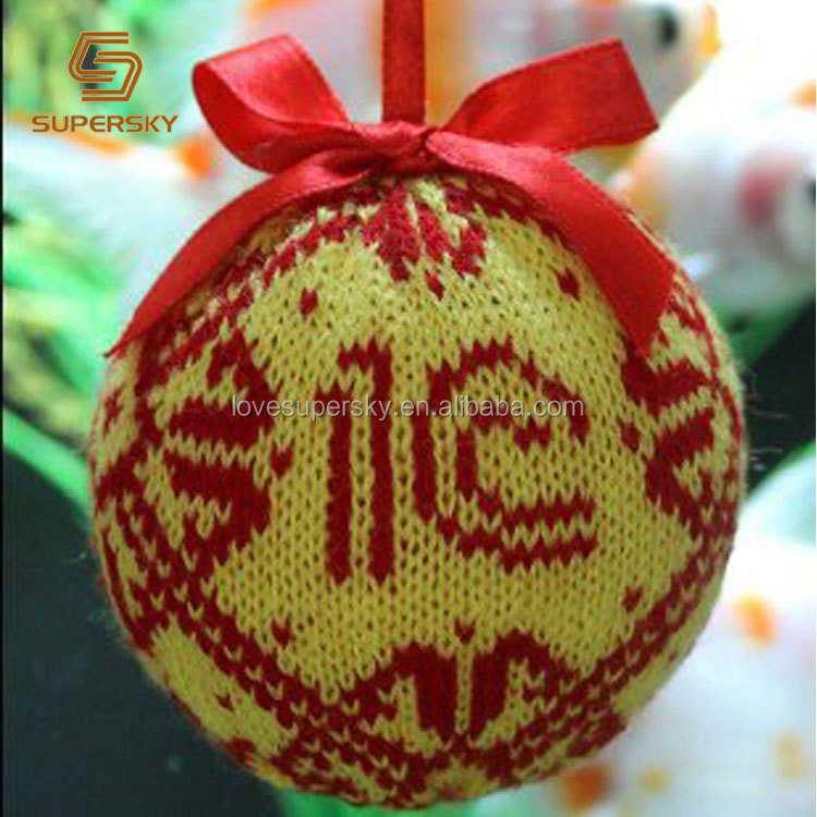 A726 Vintage Style Knitting Christmas Ball Ornaments Tree Ornaments ...