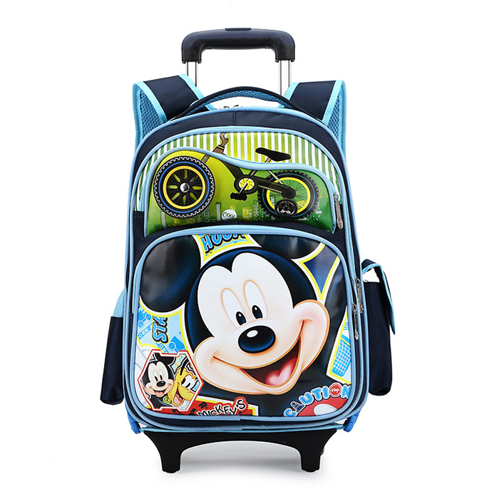 Wholesale Cartoon New Design Child Kids Trolley School Bag