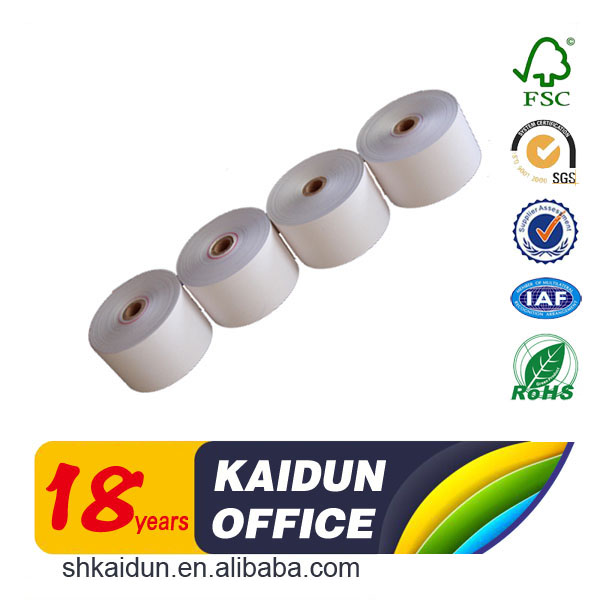 Best selling thermische kassa papier roll bank ontvangst papier voor ATM machine