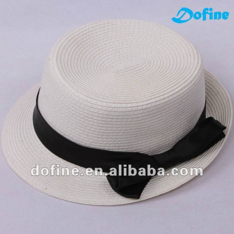paper/PP girl/lady boater straw hat
