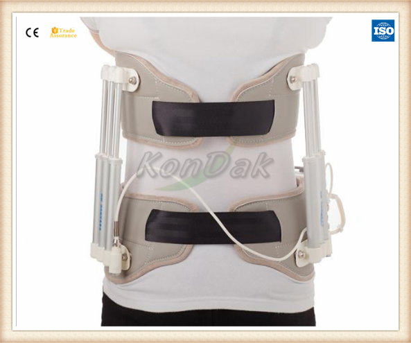 Professional back and waist physiotherapy lumbar traction