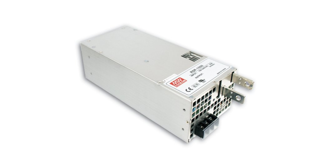 "Mean Well RSP-1500-24 Enclosed Switching AC-to-DC Power Supply, Single Output, 24V, 0-63A, 1512W, 3.3"" H x 5.0"" W x 10.9"" L"