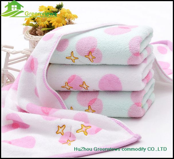 Cotton hand towel 100% cotton embroider bath towel baby for baby wedding favors towel