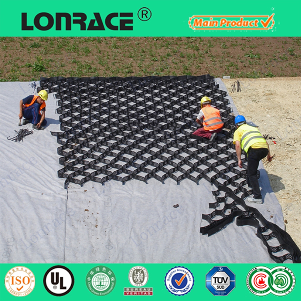 good hdpe Plastic Black Geocell HDPE Geocell Used As Driceway Mats and Gravel Stabilizer