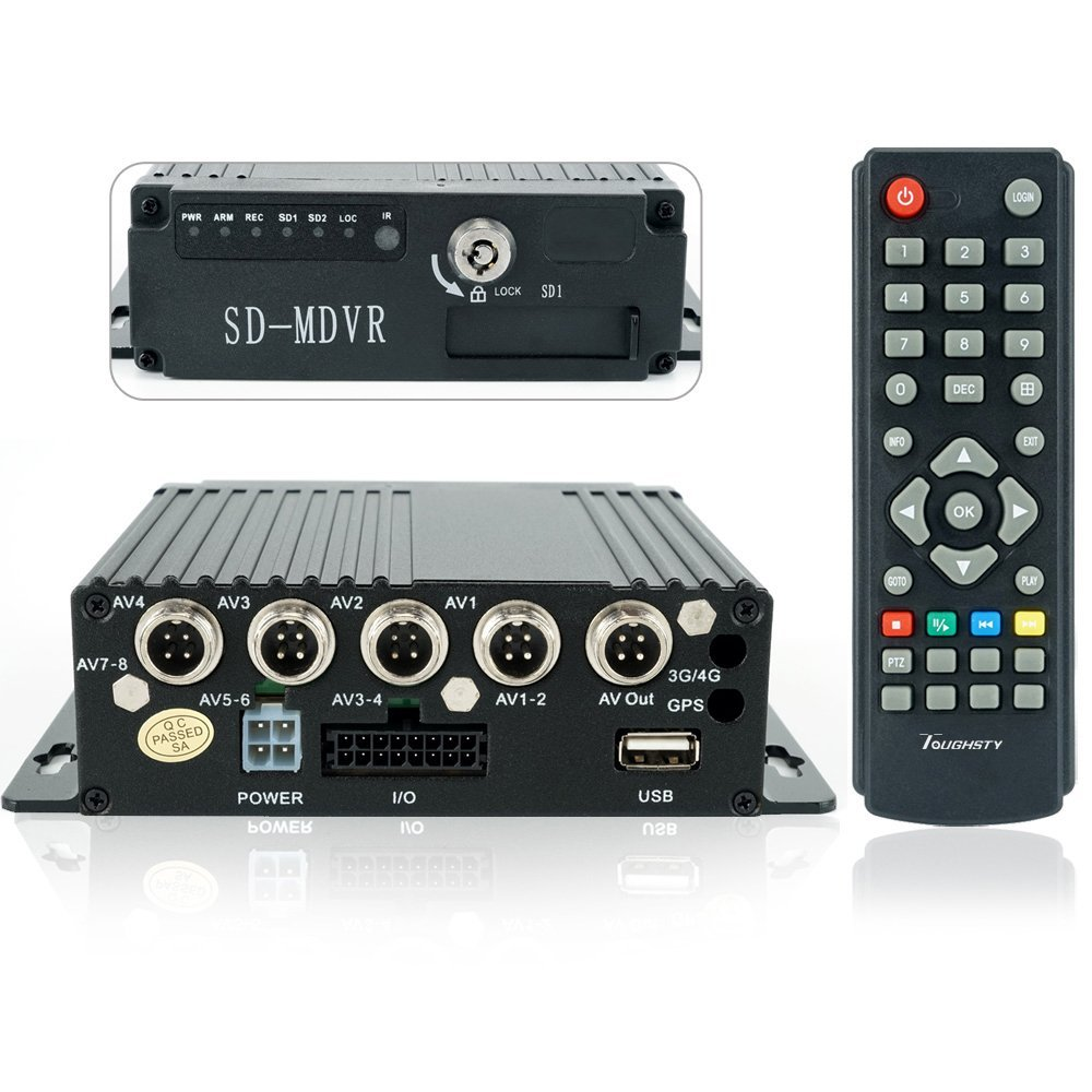 Toughsty™ 4Ch H.264 Real-time Recording Mobile DVR SD Card USB Back-up CCTV DVR Security Systems