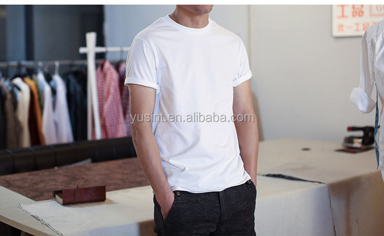 Factory OEM brand print blank 100% cotton men t-shirt wholesale Round Neck T Shirt Men