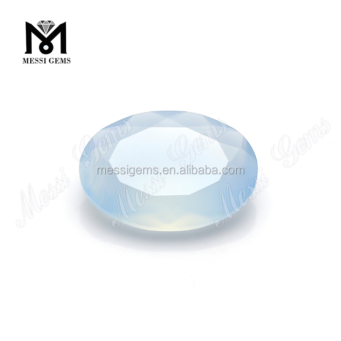 Wholesale 13 x 18 mm oval cut natural aqua blue chalcedony