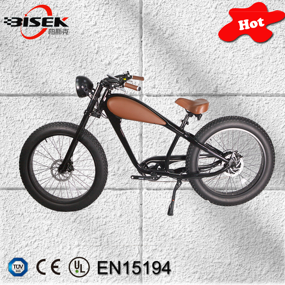 26inch vintage 750W 48V Fat Tire chopper electric bike