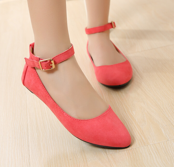 Orange Flat Shoes Size
