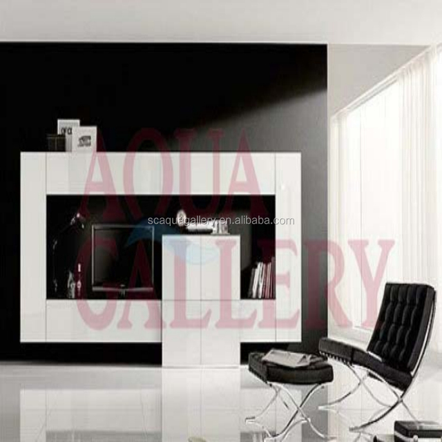 modern tv lift cabinet in lacquer