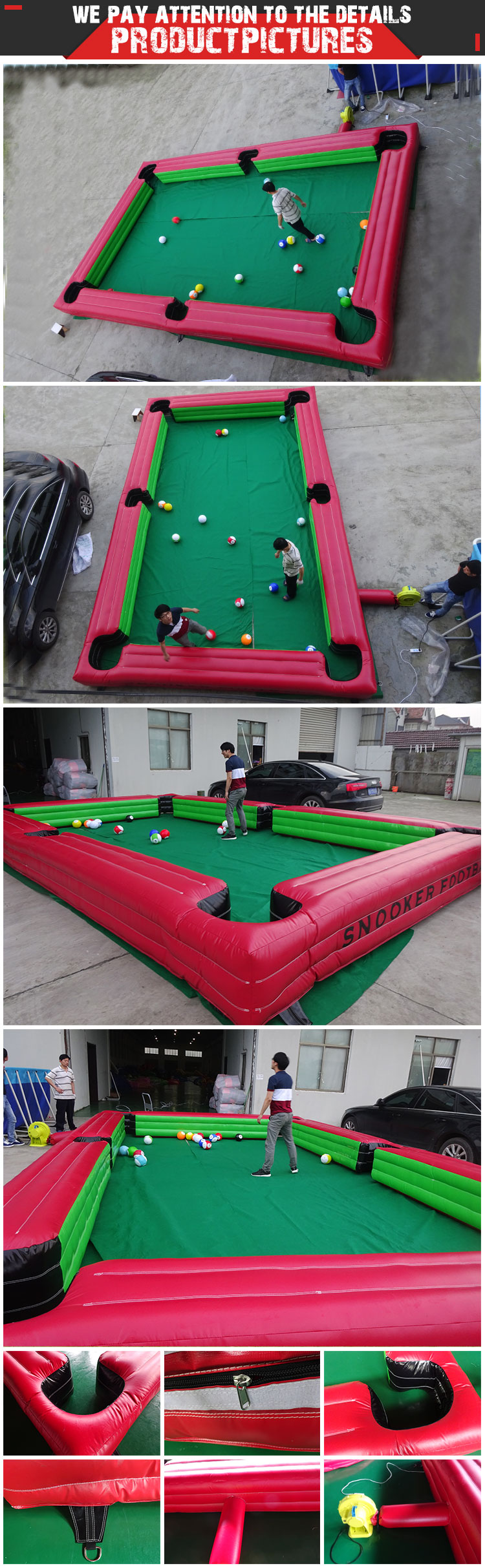 Human Billiard Table Snooker Inflatable Snooker Pool Soccer Table - Human pool table
