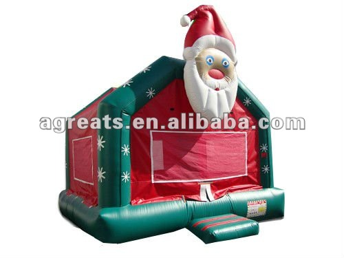 kids jumping castle inflatable Santa Claus bouncer castle G1111