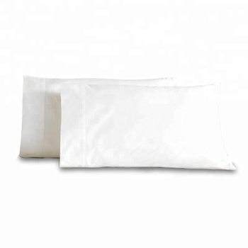 100 Cotton Downproof Waterproof White Hotel Pillow Case Cover Protector Fabric