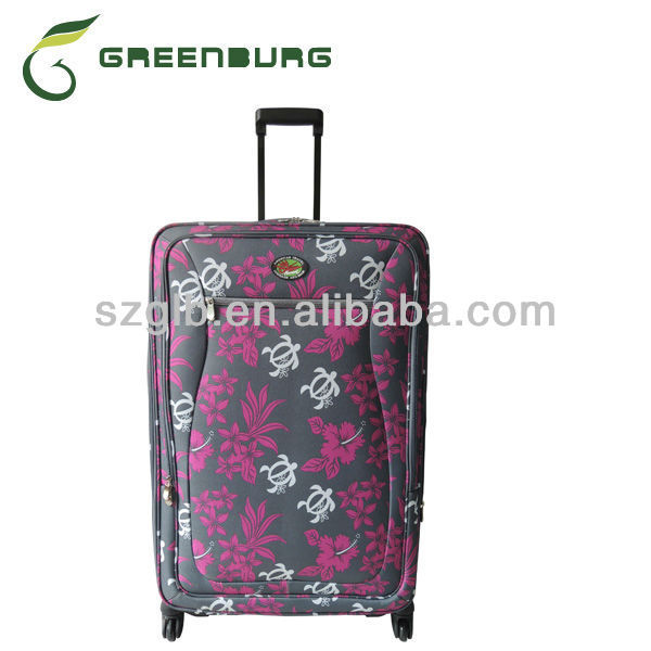 Personalized colorful flower printed 900D EVA trolley travel luggag set