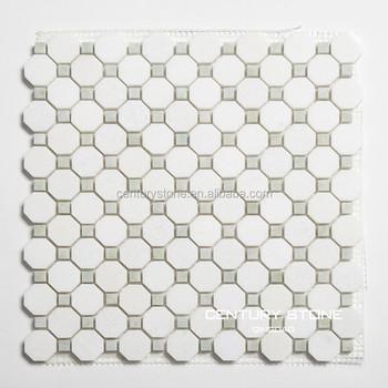 White Thos Marble Octagon Mix Ming Green Kichen Decorative Mosaic