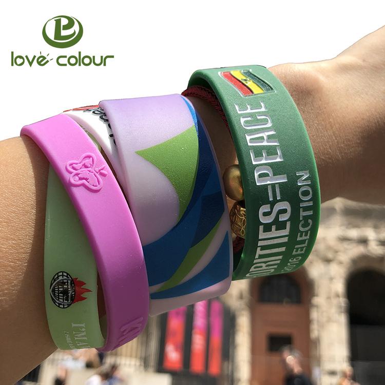 Customized logo silicon snap slap bracelet /silicone slap wristband