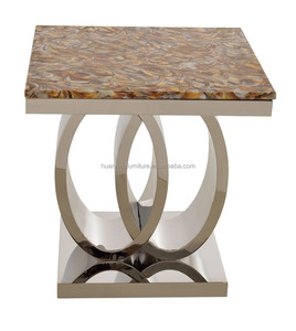 Elegant hot sale new style metal side table/marble end tables