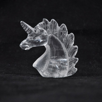 Factory direct clear quartz crystal unicorns Carving Fengshui Ornaments Gemstone