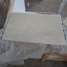 Factory supplier Cream Marfil thin stone slabs marble tiles beige 10mm cost