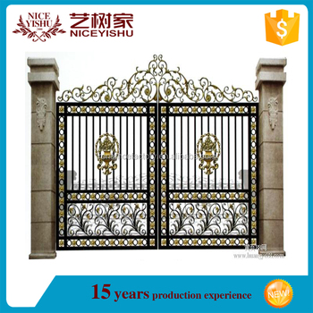 2016 Great Supplier Wrought Iron Main Gate Design/ Iron Gate For ...