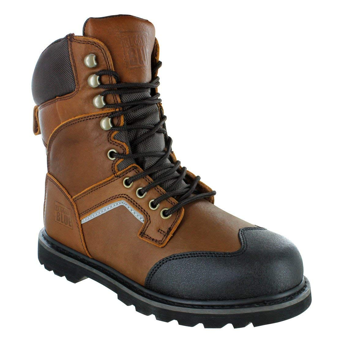 Get Quotations Rugged Blue 8 Jackson Soft Toe Work Boots Brown