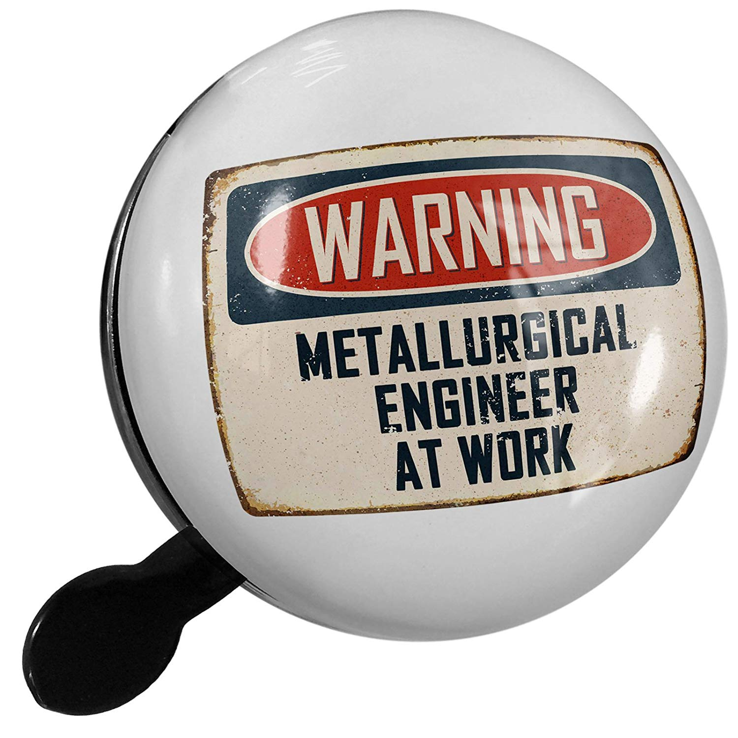 NEONBLOND Small Bike Bell Warning Metallurgical Engineer at Work Vintage Fun Job Sign