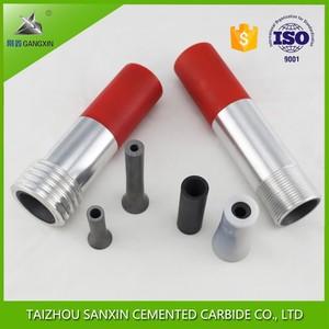 OEM solid boron carbide B4C blast nozzle, venturi sandblasting boron carbide nozzles