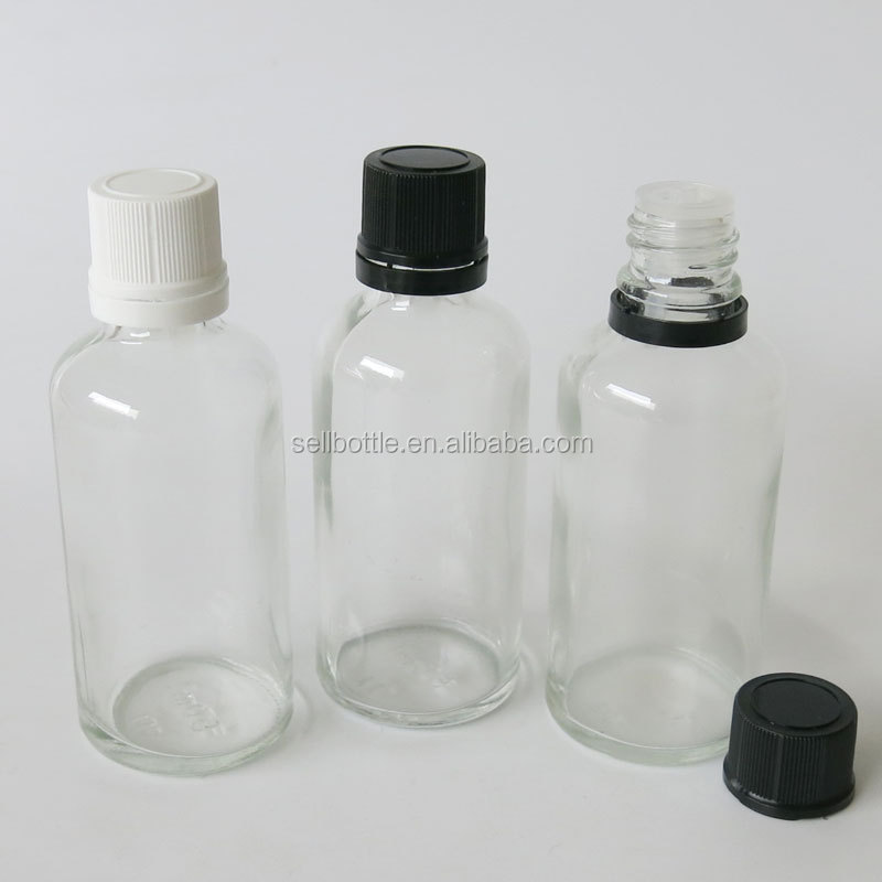 China supplier 50 ml green essential oil glass bottle with black/white screw cap for e liquid