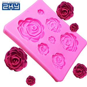 Cake Decorating Tools 7 Flowers Chocolate Cookie Rose Silicone Mold