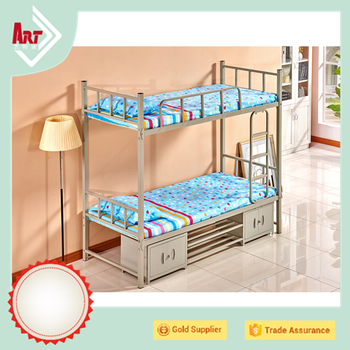 european wholesale small size kids single loft bed stainless steel bunk bed frames with storage - Wholesale Bed Frames