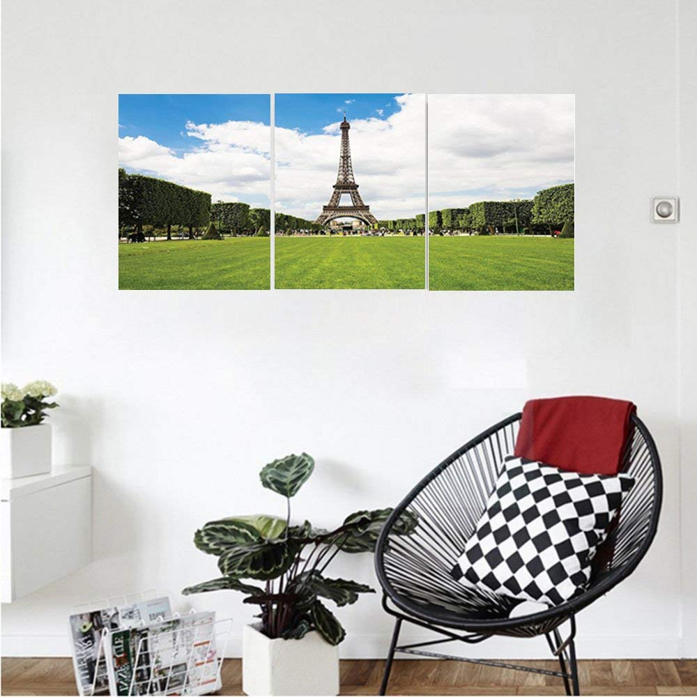Liguo88 Custom canvas Eiffel Tower Decor Collection Eiffel Tower In Paris France European Touristic Urban Lifestyle Lawn Capital City Bedroom Living Room Wall Hanging
