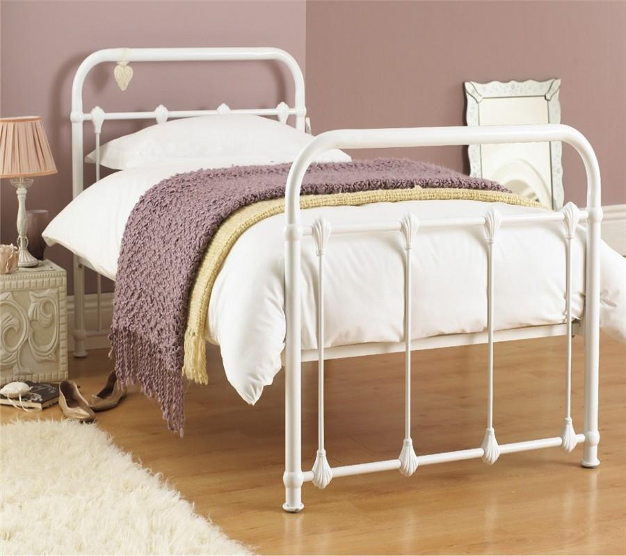 Cheap Modern Bed Frames: Cheap Modern European Style Simple Wooden Slats Metal