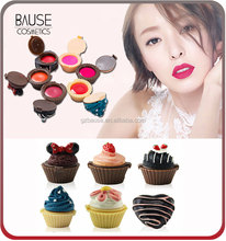 OEM wholesale makeup candy color cute lip gloss cup cake lipgloss