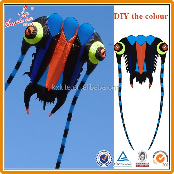 Custom colors 7sqm 10 sqm16sqm 32 sqm 43sqm 64sqm Trilobite lifter kite