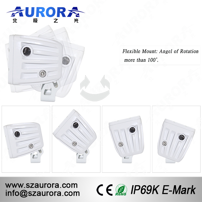 Aurora Hottest 40W White 4WD Motorcycle Light 4x4 1100cc Buggy Led Scene Light