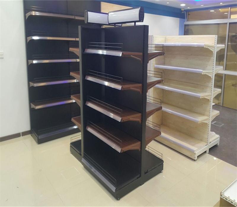 Ownace New Products Wooden Color Commercial Grocery Shop Shelves Design