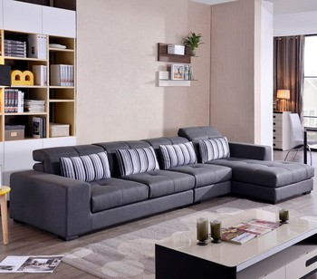Stripy Pillow Deep Grey Modern Corner L-shaped Sofas - Buy Modern Bedroom  Sofa,Modern Living Room Sofa,Furniture Sofa Set Product on Alibaba.com