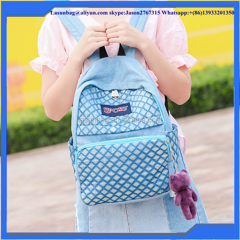2016 Hot Sale Fashion Girls Nets Design Sport School Backpack