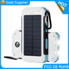 2017 trending high quatity 10000mah solar power charger bank for outdoor camping